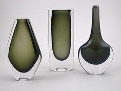 art glass | DUSK SERIES vases by Nils Landberg for Orrefors