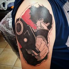 Spike from Cowboy Bebop! Tattoo by Ani Bull at Sith Tattoo Studio, Norwich, Engl… – Cowboy Bebop Tattoos, Japan Tattoo, Sith Tattoo, Spirited Away Anime, Anime Tattoos, Tattoo Design Drawings, Cowboy Bebop, Tattoo Studio, Tattoo Designs