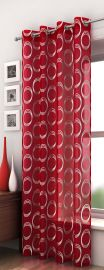 mexico red-eyelet voile panel