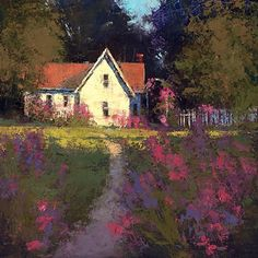 Summer Shadows by Romona Youngquist Oil ~ 18 x 18