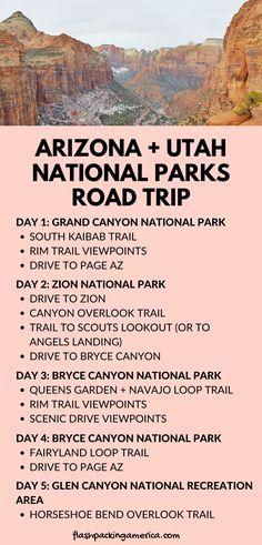 Arizona Road Trip, Road Trip Usa, West Coast Road Trip, Arizona Travel, Hiking In Arizona, Usa Trip, Vacation Ideas, Us Vacation Spots, Utah Vacation