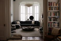 I've died and gone to heaven.  I adore this combination of relaxed elegance, interest and style. Living in Black and White, SF Style : Remodelista