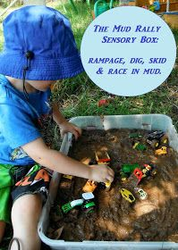 Adventures at home with Mum: Mud Rally Sensory Box