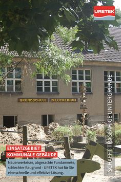 #Risssanierung und #Fundament-Verstärkung #Kommune #URETEK #DeepInjection