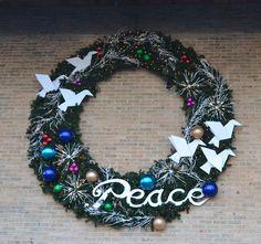 #christmas #holiday #peace #wreath #decor