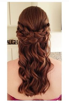 Stylish Half Updo and Elegant hairstyles 2016 Half Updo Hairstyles, Best Wedding Hairstyles, Elegant Hairstyles, Hairstyle Wedding, 2015 Hairstyles, Half Up Half Down Hair Prom, Prom Hair Down, Braided Half Updo, Braided Hairstyle