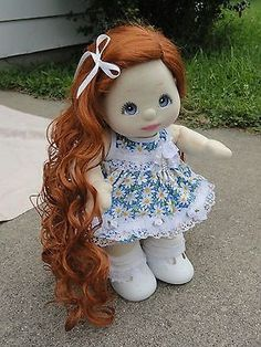 Mattel My Child Doll 1985 OOAK Custom Red Hair Side Part Ringlet Wig Blue Eyes Sewing Clothes, Doll Clothes, Mattel Dolls, Child Doll, Blue Eyes, Red Hair, Harajuku, Wigs, Disney Characters