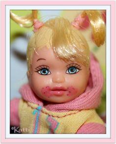 Kattis Dolls - Nikki as a Toddler Barbie Kids, Barbie And Ken, Barbie Dolls, Barbie Happy Family, Barbie Miniatures, Toy Boxes, Little Sisters, Fashion Dolls, Childhood Memories