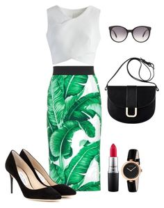 Untitled #718 by alliedrover on Polyvore featuring polyvore, fashion, style, Chicwish, Dolce&Gabbana, Jimmy Choo, A.P.C., Gucci, MAC Cosmetics and clothing