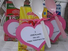 I CEREALoulsy Like You Valentine Gift Boxes on Etsy, $10.00