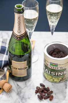 Can You Really Revive Flat Champagne with a Raisin? — Putting Tips to the Test in The Kitchn