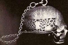 Not long before Mary Queen of Scots had her own head chopped off, she had this bone chilling silver skull watch made. The case is opened by dropping the under jaw, which turns upon a hinge, while the watchworks occupy the place of the brain.