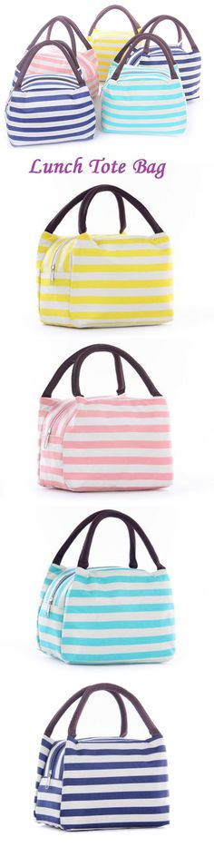 US$5.59 SaicleHome Oxford Lunch Tote Bag Cooler Insulated Handbag Zipper Storage Containers