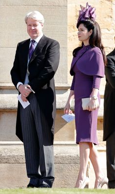 Earl Charles Spencer and Countess Karen Spencer attend the wedding of Prince Harry to Ms Meghan Markle at St George's Chapel, Windsor Castle on May 2018 in Windsor, England. Karen Spencer, Lady Spencer, Spencer Family, Charles Spencer, Windsor Castle, Saint George, Prince Harry And Meghan, Princess Kate, David Beckham