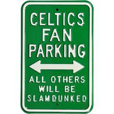 Authentic Street Signs Boston Celtics Parking Sign, Team