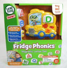 Leap Frog Fridge Phonics Magnetic Letter Set Alphabet Yellow Bus Music NEW #LeapFrog