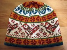 Chickadee Hat pattern-maybe use for Christmas sock.  Need to buy book to get pattern.