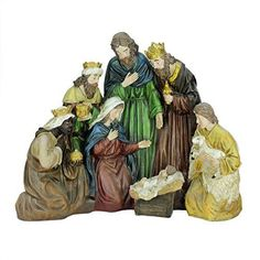 Felices Pascuas Collection 21 inch Religious Holy Family and Three Kings Christmas Nativity Scene Decoration