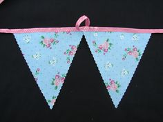 2 meters  aqua with pink rose  garden shed bunting party bunting glamping