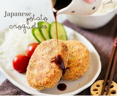 Japanese potato croquettes, or 'Korokke' in Japanese, are a delicious fried food made from panko crumbed mashed potato with carrot and onion and mince!