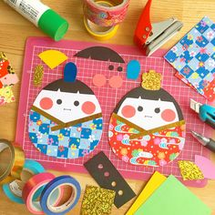 Paper Crafts For Kids, Craft Activities For Kids, Diy Paper, Easy Crafts, Paper Art, Diy And Crafts, Japanese Party, Japanese Kids, Hina Matsuri