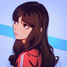 'Higher' painting process GIF! You can support me and get access to more steps, videos, high-res versions, etc. here: https://www.patreon.com/Kuvshinov_Ilya