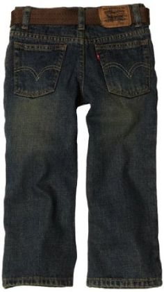 Levi`s Boys 2-7 Relax Straight Fit Boomer Jean with Belt