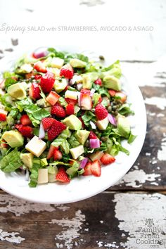Strawberry, Avocado & Asiago Spring Salad