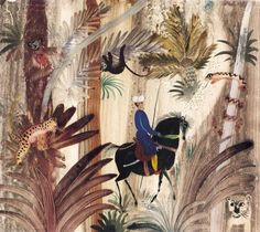 "Illustration from ""Basnie Perksie"" by Polish artist & illustrator Józef Wilkon (b.1930). via Animalarium"