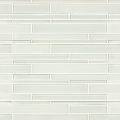 Artistic Tile Stilato Linear Mosaic Opera Glass tile in Wolfgang White Gloss and satin