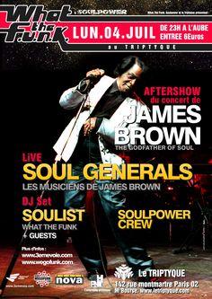wtf#19 : aftershow de l'avant dernier concert de James Brown à Paris avec ses musiciens The Soul Generals - 04/07/2005  (by Dré)