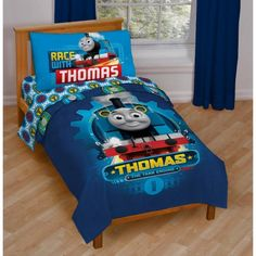 Thomas Friends 4-Piece Toddler Bedding Set. Jordan is getting this ...