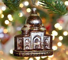 Taj Mahal Glass Ornament #potterybarn