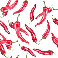 the pattern of red pepper on Behance