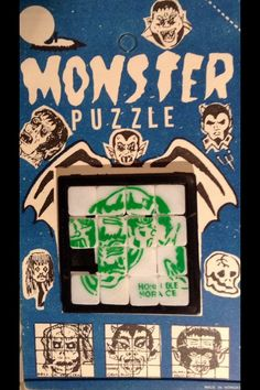 Monster slide tray puzzle (1960s)