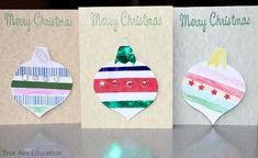 Christmas Crafts for Kids: Handmade Christmas Ornament Cards Christmas Crafts For Kids, Handmade Christmas, Christmas Wreaths, Christmas Cards, Christmas Ornaments, Ornament Template, Kids Cards, Christmas Traditions, Decoration