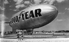 Early 1950's – the Goodyear Blimp L-Ship Enterprise N3A on the northeast side of Watson Island - Amazing Midcentury Photographs of Miami  Page 2 of 2  Best of Web Shrine