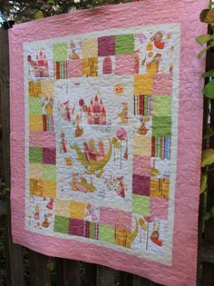 Princess and Dragon Baby Girl Quilt with Stuffed Dragon Toy // Baby Gift // Gift for Babies// Baby Shower Gift // Toddler Quilt Baby Girl Quilts, Girls Quilts, Neutral Baby Quilt, Map Quilt, Crochet Fairy, Toddler Quilt, Stuffed Dragon, Baby Girl Princess, Quilt Stitching