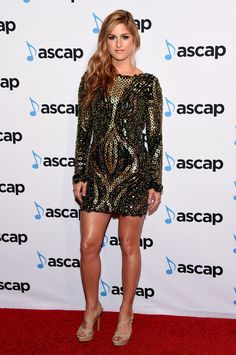 Cassadee Pope attends the 53rd annual ASCAP Country Music awards at the Omni Hotel on November 2, 2015 in Nashville, Tennessee.