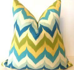 SALE18x18 chevron ikat pillow in glamis spa by HouseofPillows, $31.50