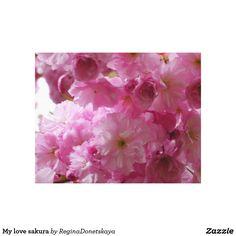 My love sakura canvas print