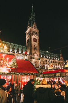 Christmas Market Fun In Hamburg, Germany… Christmas In Holland, Vienna Christmas, Cozy Christmas, Christmas Markets Germany, Renaissance Hotel, Hamburg Germany, Future City, Vacation Trips, Vacations
