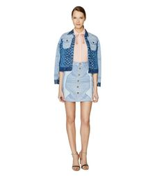Mary Katrantzou x Current/Elliott $428 skyrograph denim Fountaine jacket 1/S NEW #MaryKatrantzou #JeanJacket #Casual