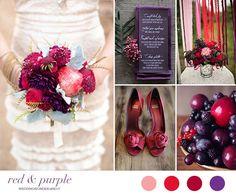 Matrimonio autunnale in rosso e viola