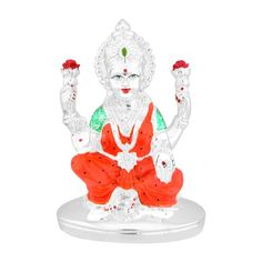 Jpearls Silver Plated Special Laxmi Devi Idol | Silver Statues of Indian Gods