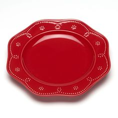 Food Network™ Fontinella Beaded Dinner Plate, Red