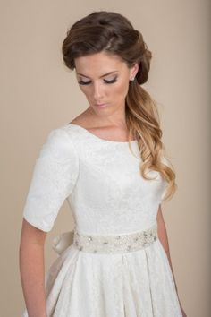Sofia  - www.clairecalvi.com  -  Claire Calvi - modest wedding dress, wedding dress with sleeves, lace wedding dress