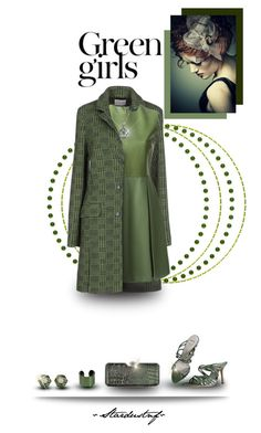 """Green Girls"" by stardustnf ❤ liked on Polyvore featuring Ballantyne, Trilogy, Christian Dior, Gucci, Effy Jewelry, Green Girls, Maison Margiela, Rachel Zoe, Julia Cocco' and clutchcrush"