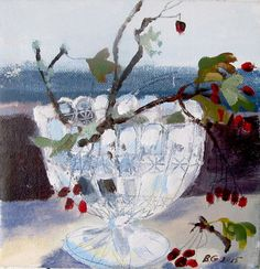 'Hawthorn Berries' by Brita Granstrom (acrylic on canvas) Still Life Fruit, Flower Art, Art Flowers, Art Thou, Light Of Life, Art Music, Artist At Work, Painting & Drawing, Window Sill