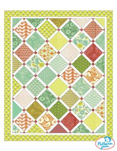 Playing with Clementine fabric to design a new quilt at Pattern Jam